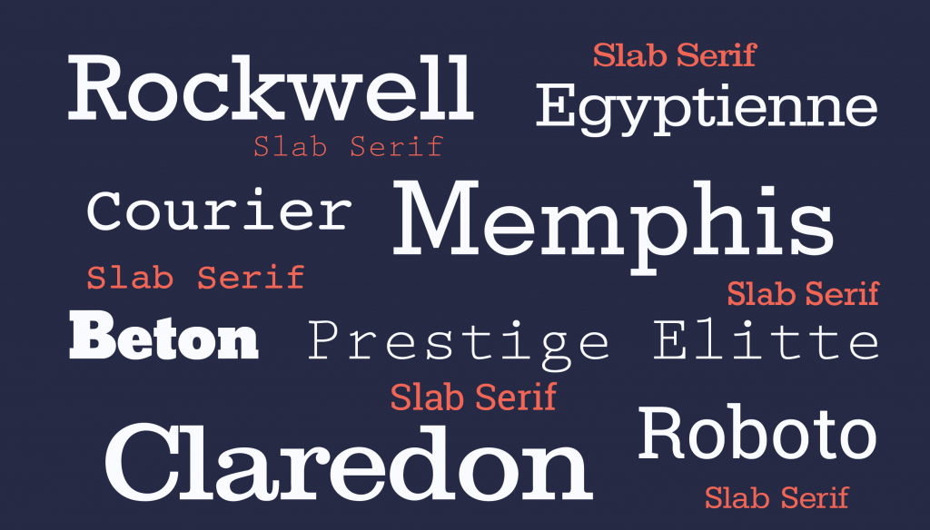 Most popular slab serif typeface