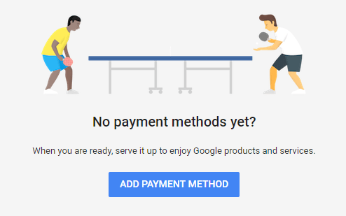 Google Adwords Payment methods