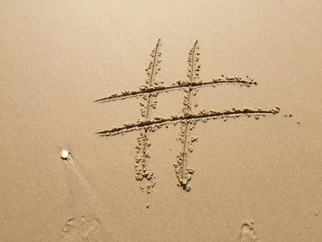 Usage of hashtags