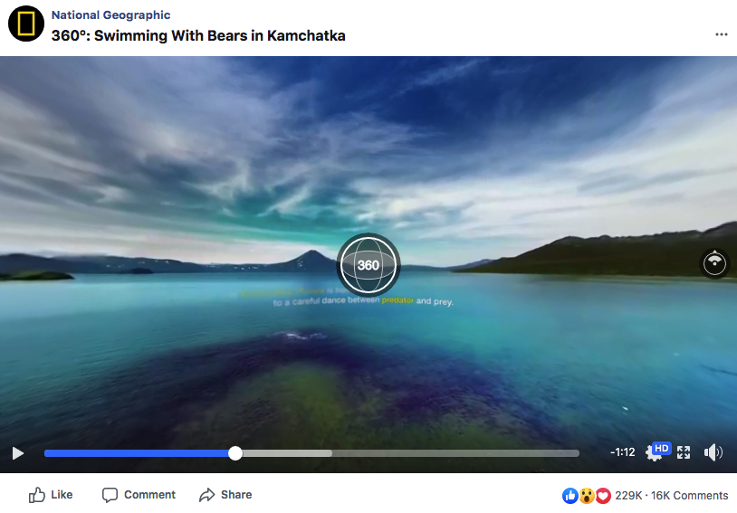 Example of a Facebook 360 video