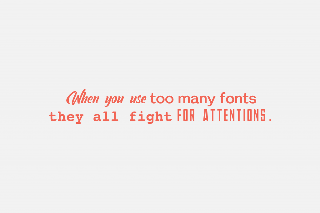 Choosing right combinations of fonts