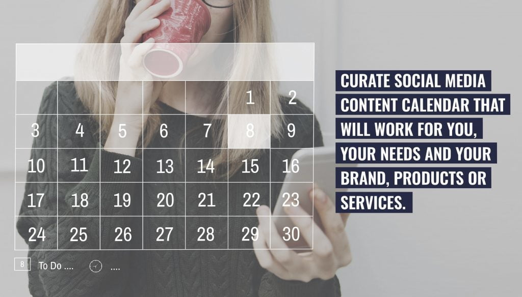 Customize social media conten calendar